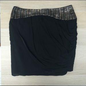 Bebe Draped Mini Skirt